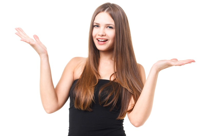 脂質について質問する女性