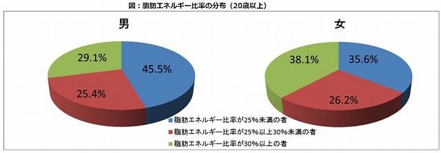脂質摂取量量のグラフ
