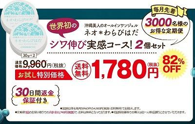 ネオ*わらびはだの公式サイトの価格